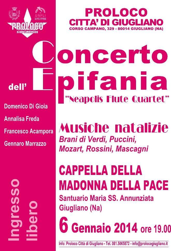 "Concerto dell'Epifania del ""Neapolis Flute Quartet"""