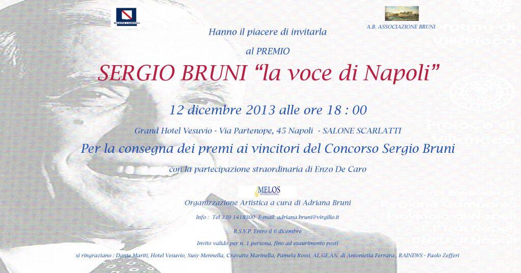 Premio Sergio Bruni: giovedì serata per il maestro