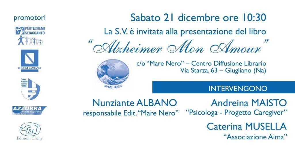 """Presentazione libro """"Alzheimer mon amour"""" di Cècile Huguenin"""