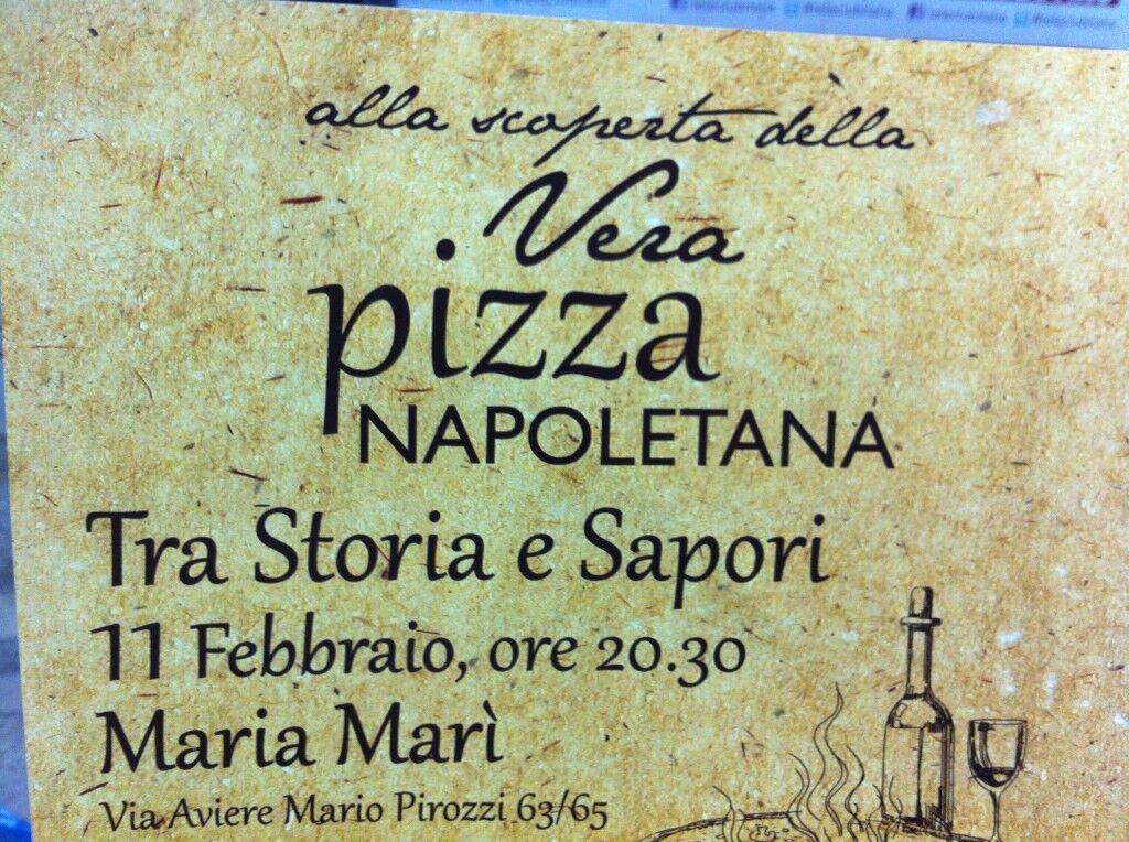 Tra storia e sapori, martedì11 febbraio degustazione della vera pizza napoletana da Marì Marì a Giugliano