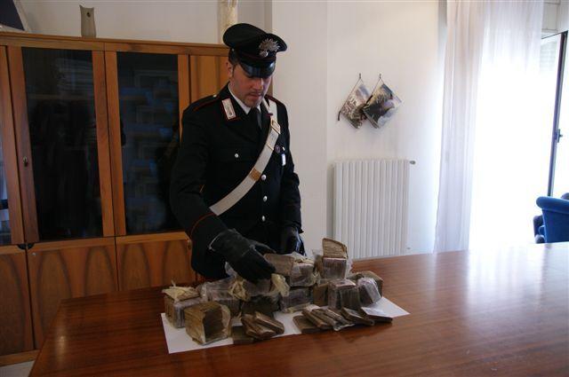 Arresto a Mugnano, aveva 11 kg di Hashish in casa