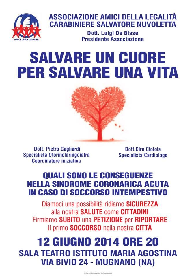 """""""Salvare un cuore per salvare la vita"""", domani il convegno a Mugnano"""