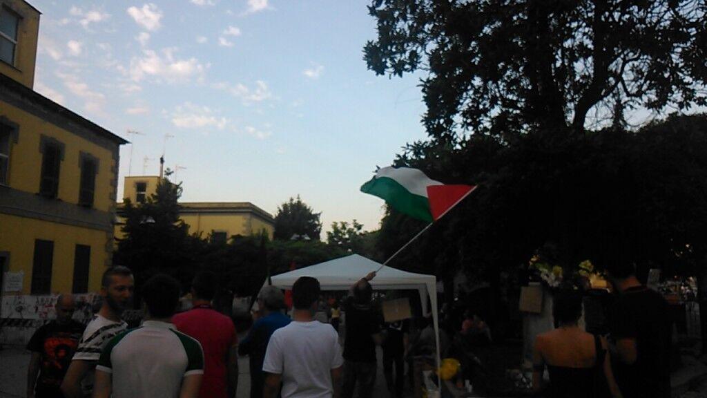 Manifestazione a Marano per il popolo palestinese