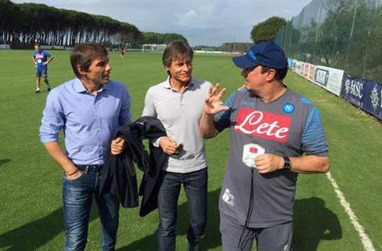 """Conte ed Oriali a Castelvolturno. Il CT ad Insigne: """"Continua così, arriverà il tuo momento"""""""
