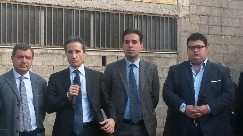 Marano, parco tematico via Pepe: il taglio del nastro del cantiere alla presenza di Caldoro. Video