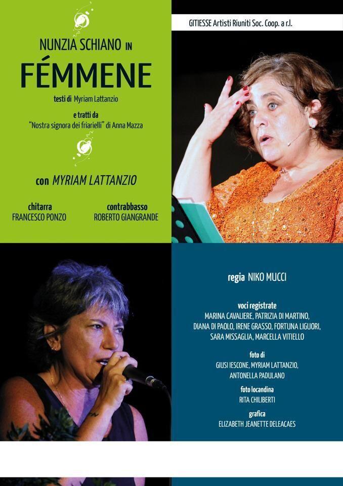 """""""Femmene"""" di Myriam Lattanzio e Anna Mazza al San Carluccio"""