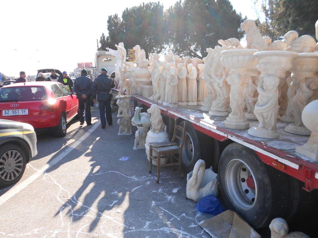 Nuovo verbale per il commerciante di statue situato nei pressi dall'auchan di Giugliano