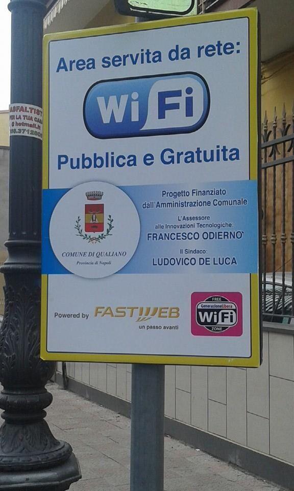 Qualiano, nuovo punto wi-fi libero