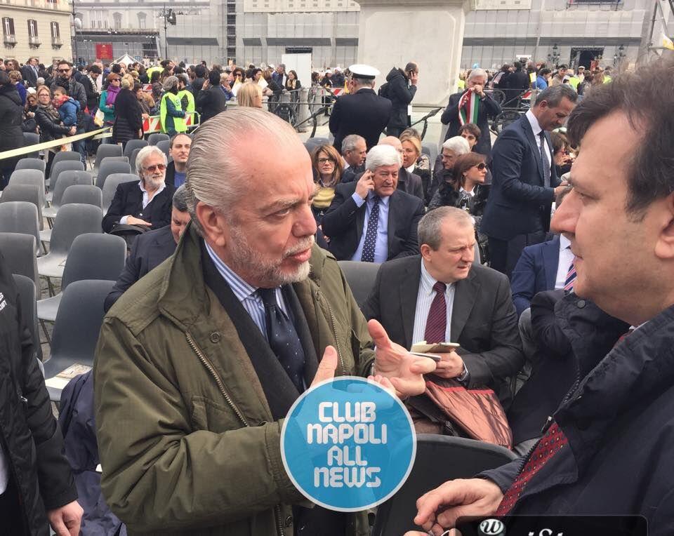 """De Laurentiis: """"Un'amichevole con il San Lorenzo in onore del Papa"""""""