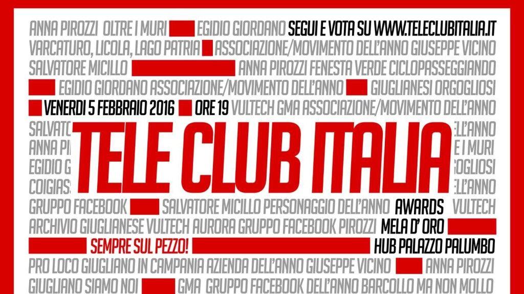 Teleclubitalia Awards Mela d'oro, continuano le votazioni fino al 1 febbraio. Ecco la data della cerimonia di premiazione