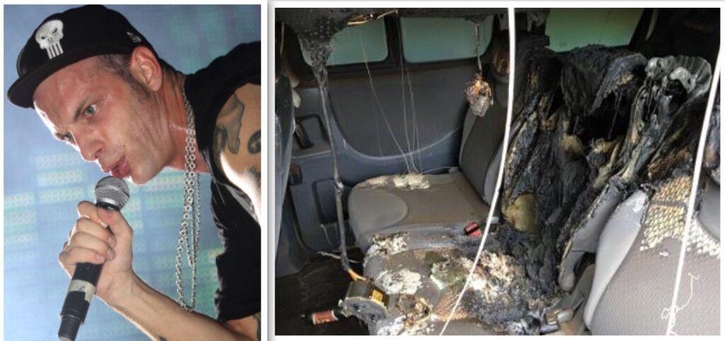 Incendiata l'auto del cantante Clementino, la sua rabbia sui social