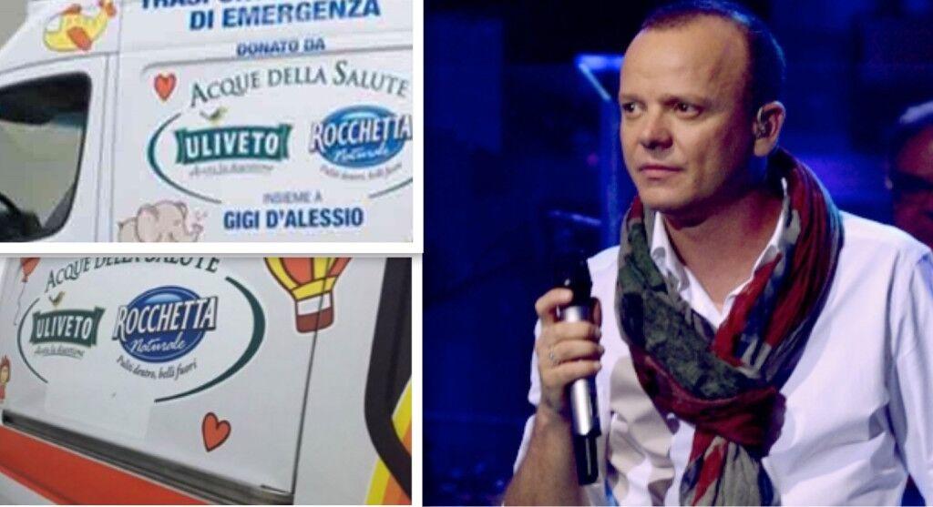 La delusione di Gigi D'Alessio, cancellato il suo nome dall'ambulanza donata dopo il concerto alla Reggia