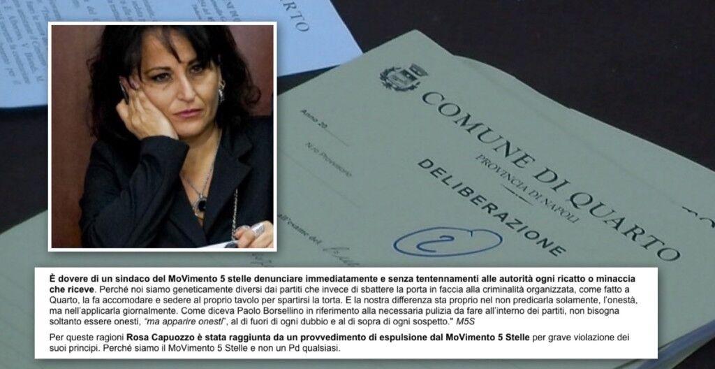 Quarto, il Sindaco Rosa Capuozzo è stata espulsa dal M5s. L'annuncio sul blog di Grillo
