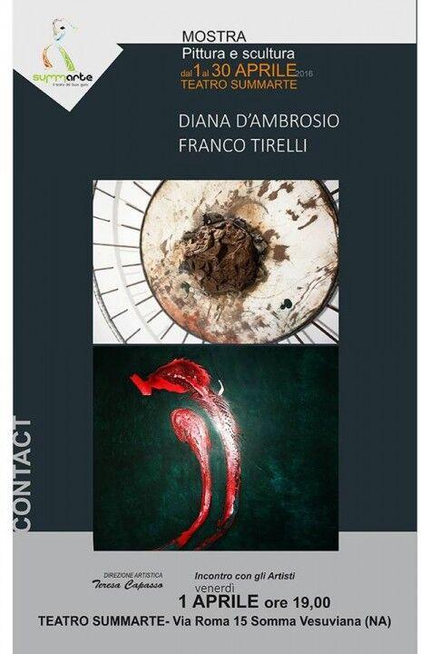 Mostra di Diana D'ambrosio e Franco Tirelli alla galleria del teatro Summarte
