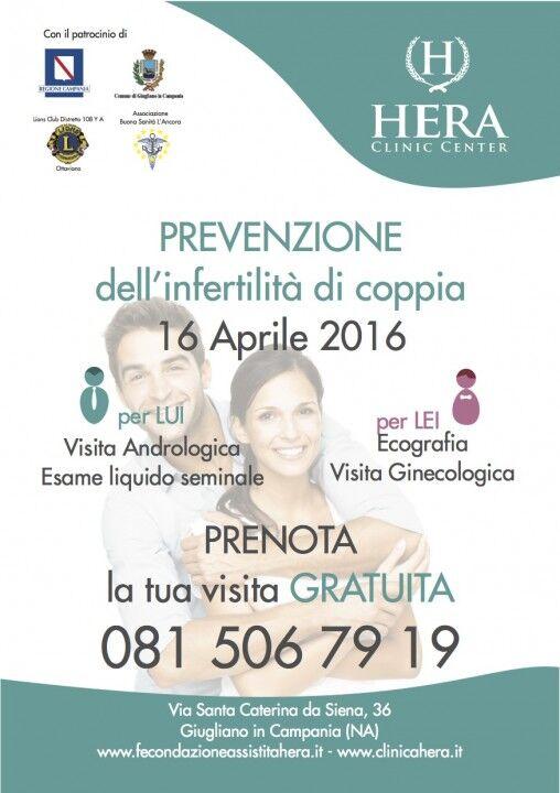 Prevenzione dell'infertilità di coppia, visite gratuite alla Clinica Hera
