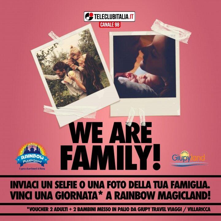 """Parte """"we are Family"""", il nuovo concorso di Teleclub che premia la famiglia"""