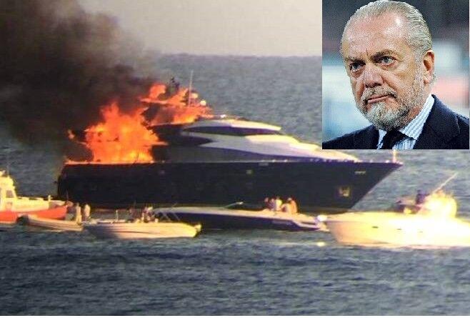 Incendio allo yacht di De Laurentiis: blitz dei periti, il caso è ancora aperto