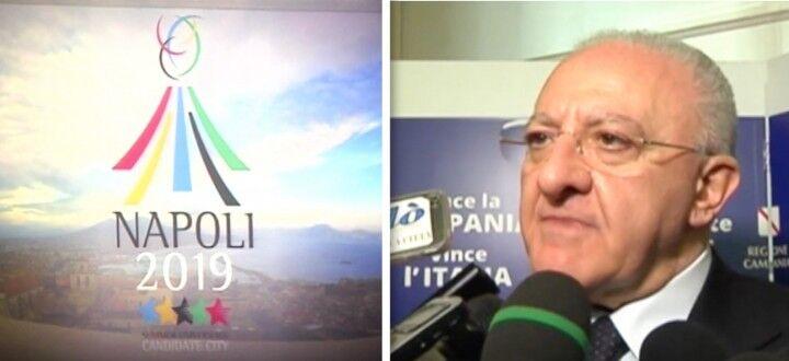 """Universiadi a Napoli nel 2019, De Luca: """"Occasione fantastica"""""""