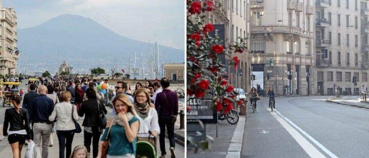 Feste pasquali, Napoli batte Milano. Tanta gente sul lungomare