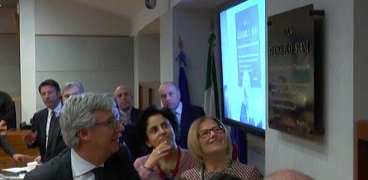 La sala del consiglio regionale intitolata a Giancarlo Siani