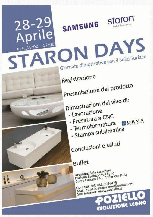"""""""Staron Days"""", la due giorni di presentazione del Solid Surfaces alla Poziello"""