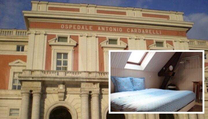 Avevano creato una camera particolare al Cardarelli, incastrati dalle telecamere: sospesi 5 addetti alle pulizie