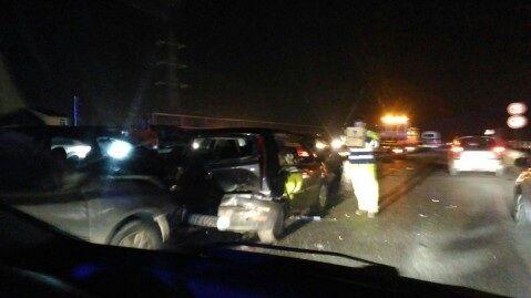 Grave incidente sull'Asse Mediano. Cinque auto coinvolte