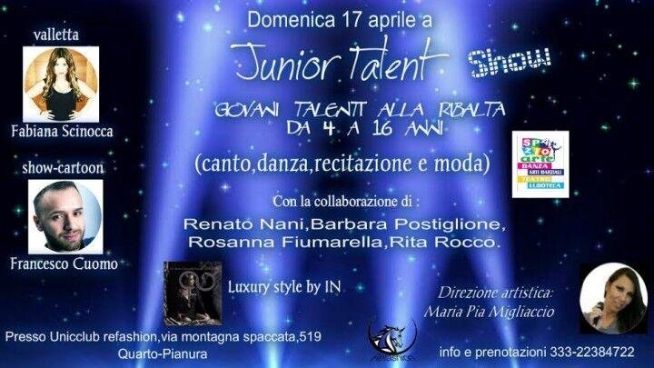 """Prima edizione """"Junior Talent Show"""", concorso ideato da Maria Pia Migliaccio"""