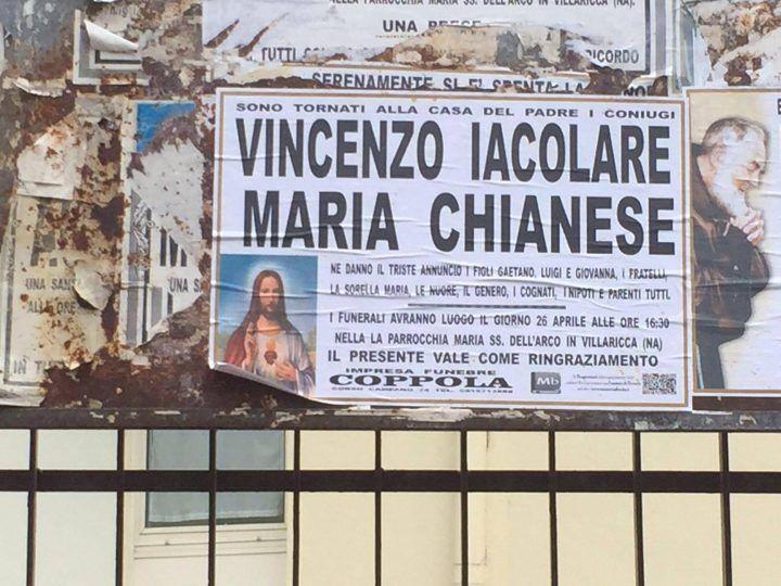 Tragedia a Villaricca, marito e moglie muoiono a distanza di pochi minuti
