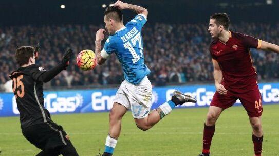 Il Napoli perde con la Roma, beffa nel finale di partita