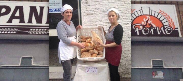 Giugliano campione di solidarietà. Panificio distribuisce pane gratis