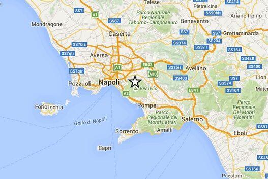 Terremoto a Napoli, epicentro alle pendici del Vesuvio