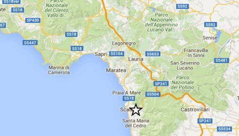 Scossa di terremoto a Scalea, trema anche la Campania