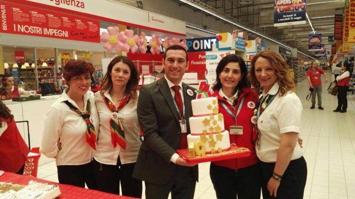 Auchan a Giugliano compie 10 anni, 10 % di sconto in tutti i negozi