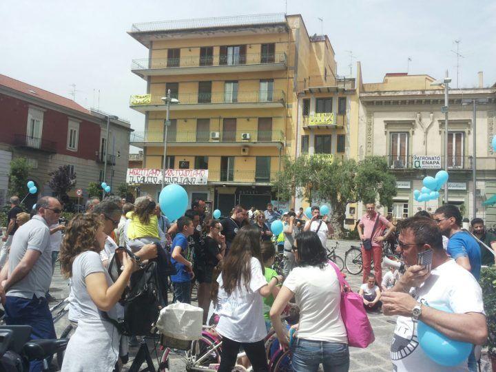 """In bici per """"salvare il respiro del pianeta"""": anche Giugliano fa la sua parte"""