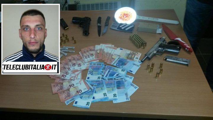 Blitz della polizia, preso esponente dei Lo Russo. Sequestrato arsenale, droga e soldi