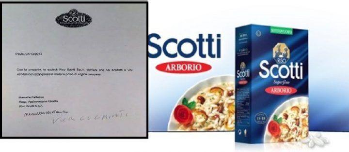 """Riso Scotti: """"Non usiamo prodotti campani"""". Bufera sul web"""