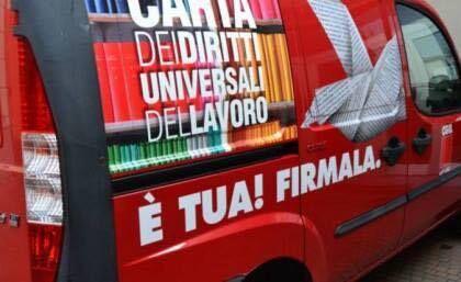 Cgil, Libera e Polis in piazza Matteotti per il referendum sul lavoro