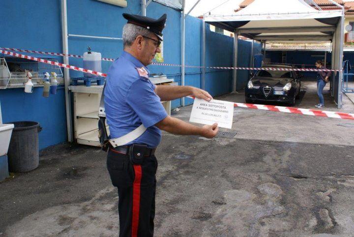 Abusivismo e reati ambientali, sigilli ad un'officina con autolavaggio sulla circumvallazione. 3 denunciati