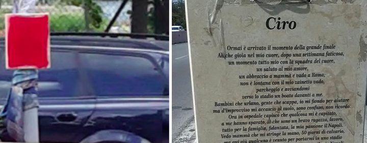 Vergogna a Roma, sfregiata la lapide in memoria di Ciro Esposito