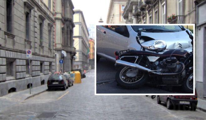 Incidente auto-scooter all'alba, ferito grave un centauro