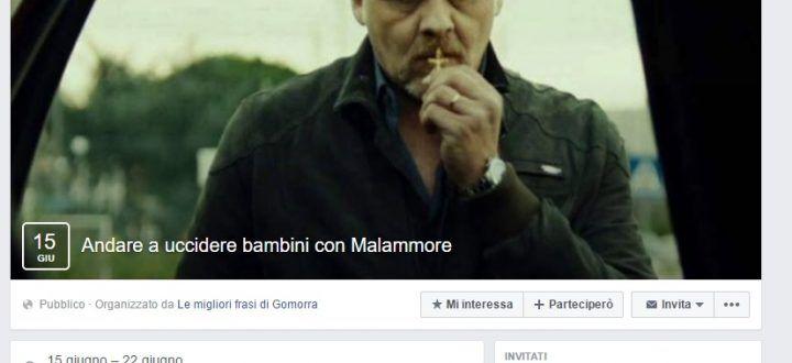 """Follia Gomorra, creato l'evento Fb: """"Andare a uccidere bimbi con Malammore"""""""