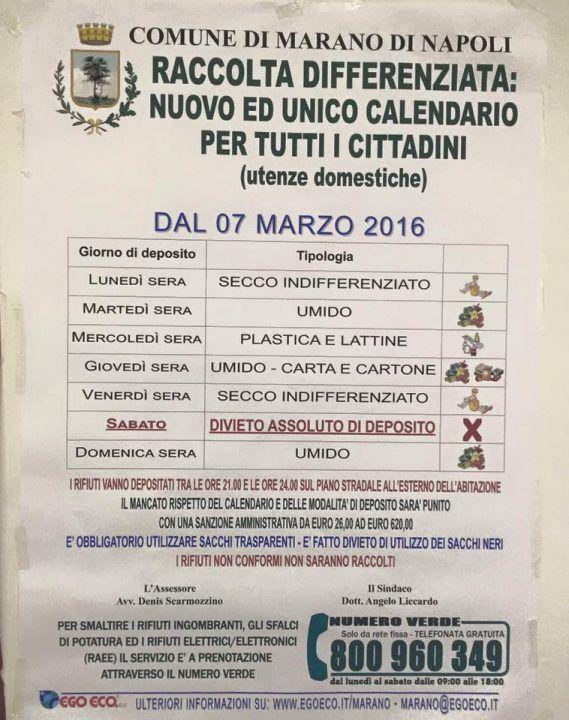 Marano, ultima del comprensorio giuglianese nella raccolta differenziata