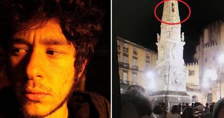 Ragazzo caduto dall'obelisco, quella frase terribile gridata prima di morire