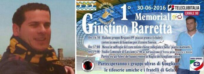 """""""Primo Memorial Giustino Barretta"""", gli ultras ricordano il tifoso gialloblù"""