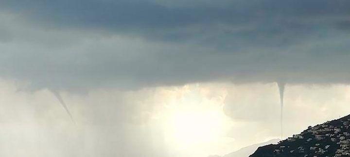 Maltempo, volenti nubifragi in provincia e trombe d'aria in costiera