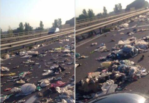 Asse mediano invaso da rifiuti e cani morti, è giallo