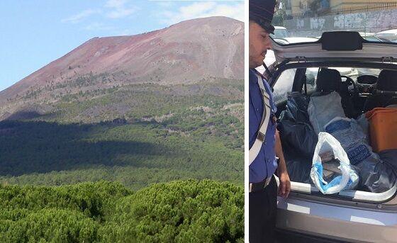 Sversano rifiuti speciali nel Parco Nazionale del Vesuvio, presi in 2