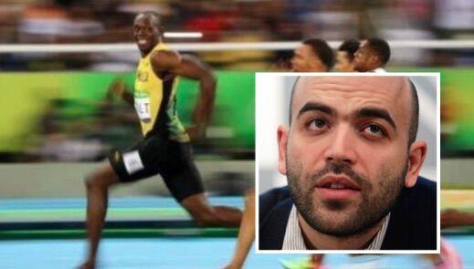 Olimpiadi, Roberto Saviano e il post su Bolt: attacco sui social