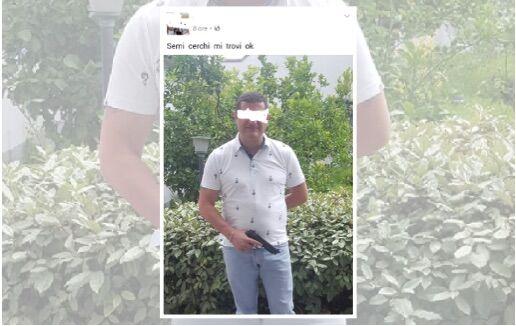 Uomo posta foto su fb con una pistola e un messaggio criptico. Minaccia o scherzo di cattivo gusto?